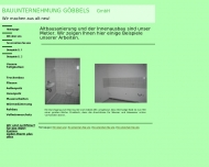 Website Bauunternehmung Göbbels