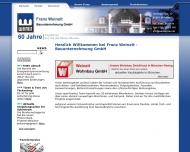 Website Weinelt Franz Bauunternehmung