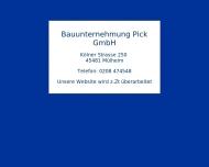Bild Bauunternehmung Pick GmbH