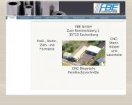 Bild Webseite Feinblechverarbeitung Eschenburg Eschenburg