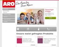 Bild Webseite ARO Heimtextilien Nürnberg