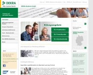 Website DEKRA Akademie
