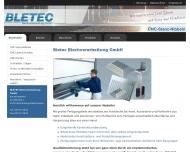 Bild Webseite Bletec Blechverarbeitung Eschenburg