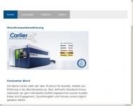 Bild Webseite Carlier Aachen