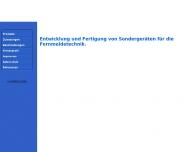 Bild Webseite Wiesmeier Fernmeldetechnik Bergkirchen