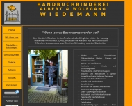 Website Wiedemann Albert Buchbinderei u. Wolfgang
