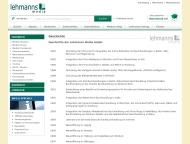 Website Lehmanns Fachbuchhandlung