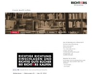 Bild Webseite Richters Buchhandlung . Ihre Experten für Romane, Kinderbücher ... Dresden