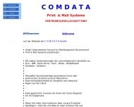Bild Webseite Comdata Print & Mail Systeme UG (haftungsbechränkt) München