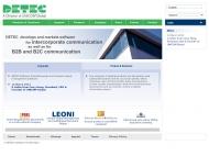 Bild Webseite DETEC Software Rüsselsheim