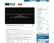 Bild Webseite PCS Professionelle Communications Systeme München