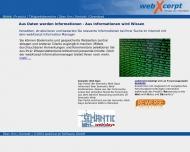 Bild Webseite webXcerpt Software München