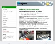 Bild Webseite Signum Computer für Signal- verarbeitung und München