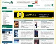 Website Medizinische Buchhandlung J.F. Lehmanns