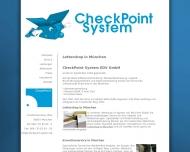 Bild Webseite CheckPoint System EDV München