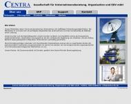 Website Centra Gesellschaft für Unternehmensberatung, Organisation und EDV