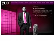 Bild Webseite KEK Anwendungssysteme München