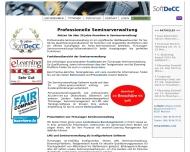 Bild Webseite SoftDecc Software München