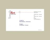 Bild Webseite Simply NET Datendienste Köln