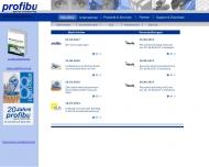 Bild Webseite profibu Softwareentwicklung  u. Vertriebsgesellschaft Köln