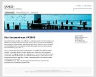Bild Webseite SAXESS Softwaredesign Köln