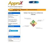 Bild Webseite ApproX Nürnberg
