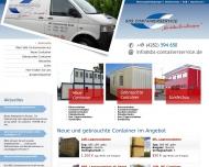 Bild Webseite STC Container Handels München