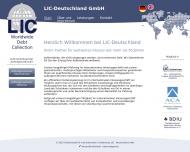 Bild Webseite Gesellschaft für internationalen Creditschutz -LIC Deutschland Köln