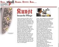 Bild Webseite Wiedl Restaurierung Nürnberg