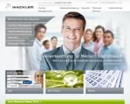 Bild Webseite Wackler Service Group Dresden