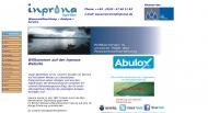 Bild Webseite inprona innovative produktionsnahe Einkauf-Dienstleistungen Sigrid Böse Berlin