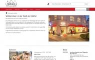 Bild Webseite Parfümerie Harbeck Berlin