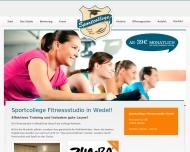 Bild Webseite Sportcollege Fitnesstudio Wedel