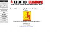 Bild Webseite Beimdick Elektro Elektroinstallationen Dortmund
