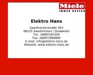 Bild Webseite Hans Elektro Saarbrücken