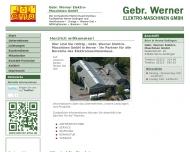 Bild Werner Elektro-Maschinen-Gesellschaft mit beschränkter Haftung, Gebr. Reparaturen