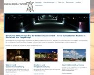 Bild Webseite Elektro Becker Dortmund