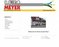 Website Elektro Gerhard Meyer