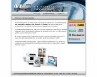 Website Hausgeräte Kundendienst Mangold
