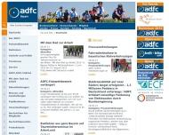 Bild Webseite ADFC Landesverband Bayern München