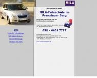 Bild Webseite MILA Fahrschule City Berlin