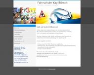 Bild Webseite Börsch Fahrschule Köln
