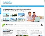 Bild Webseite COSEL Reisen & Events Dresden