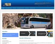 Bild Webseite Sachsen-Express Reisedienst Hammer Freital