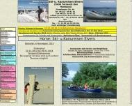 Bild Webseite Ski-Kanu-Reisen Elvers Tornesch