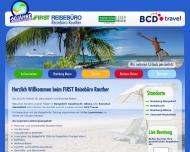 Bild Webseite FIRST REISEBÜRO Management Köln