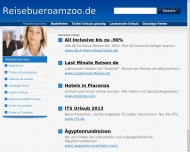 Bild Webseite Reisebüro am Zoo Köln