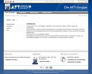 Website AFT-Automatisierung und Fördertechnik