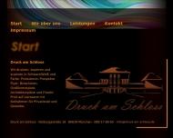 Bild Webseite Druck am Schloss München