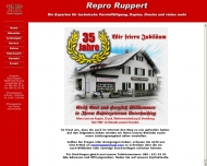 Bild Webseite Repro Ruppert Peter Lichtpauserei - Ruppert Peter Lichtpauserei KopierBetr. München